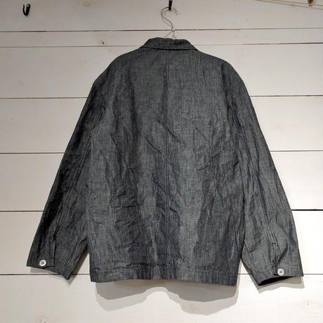 綿麻ダンガリーのチャイナジャケット