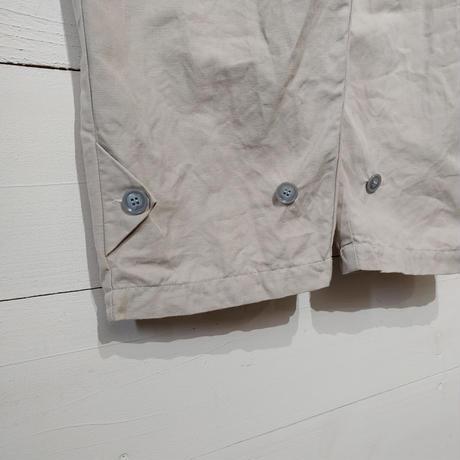 綿麻グレーのカバーオール