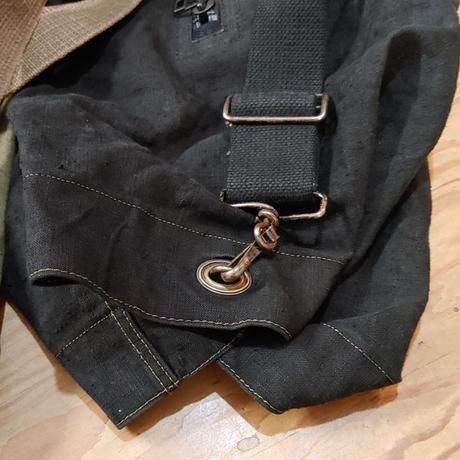 フランスダッフルバッグ 後染めブラック