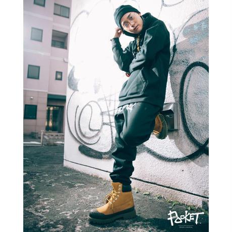 POCKET  LOGO PANTS (black)