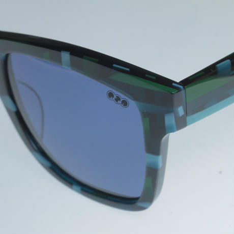 kush 80's pattern series /green/blue