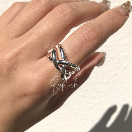 silver925 Duo Ring/size:#11,13,15