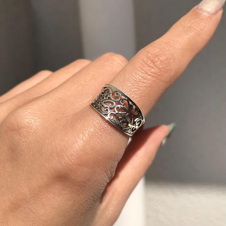 【8号ラスト1点】silver925 Punching Ring/size:#8