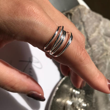 silver925 ring - Severalfold Ring- <Style No.010904-34>  Free size