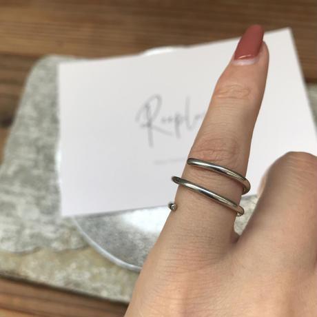 silver925 ring -Swirl-〈StyleNo.010724-12〉size:Free/#8程度