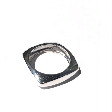 【11号ラスト1点】silver925 Square Ring /size:#11