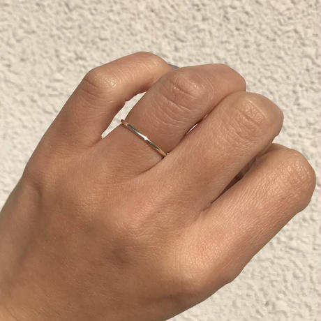 silver925 ring 1mm Ring /size:S,M,L