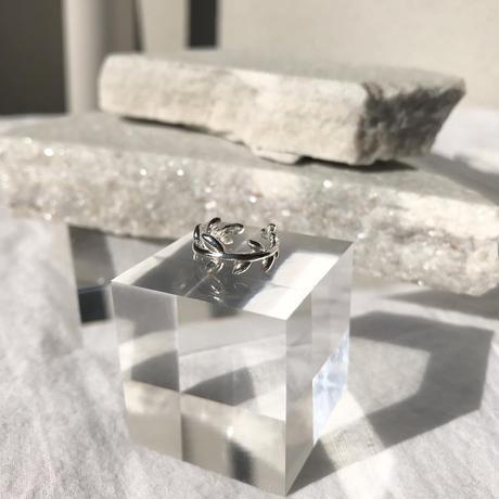 silver925  Leaf crown EarCuff /1P