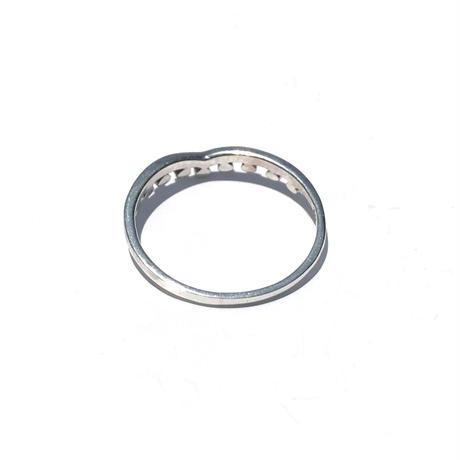 silver925  Thin Tiara Ring/size:#8-16