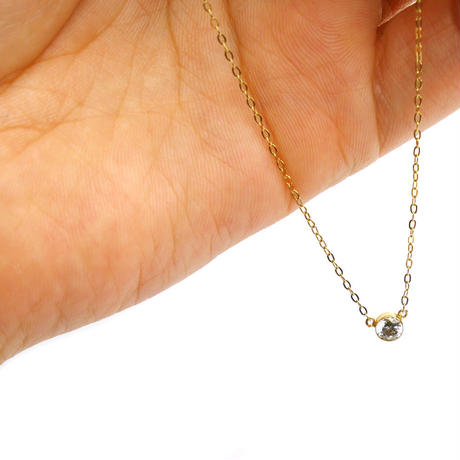 14kgold point short-chain necklace