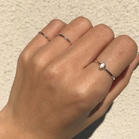 silver925  Mini Shell Thin Ring 3Set /size:S,M〈Style.No 011202-71〉