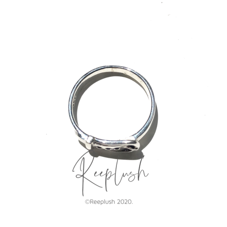 silver925 Lil Belt Ring/size:#11-14