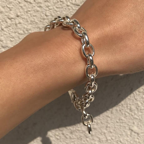 silver925 Cable chain Bracelet<StyleNo.020203-140〉
