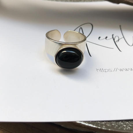 silver925 ring -onyx-〈StyleNo.010724-61〉 size:Free