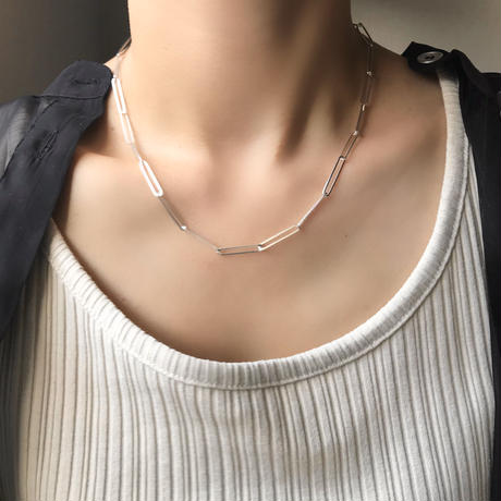 silver925 Long Thin Chain Necklace/45cm