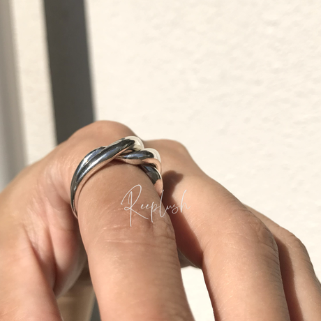 silver925 Bonds Ring/size:#13,16