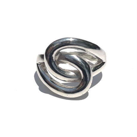 silver925 Through the Hole Ring/size:#12,14,16