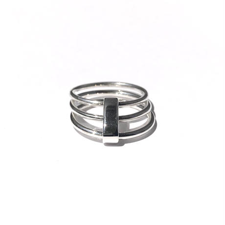silver925 Triple Ring /size:#11,15