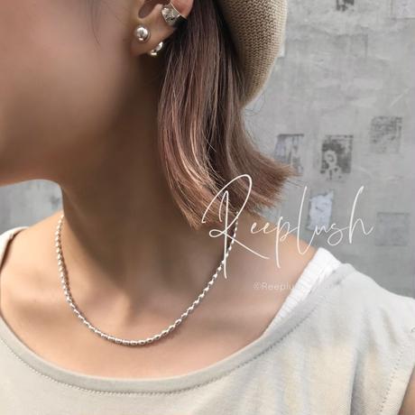 silver925  -Ricechain  Necklace-/size:40cm