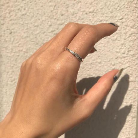 silver925 Thin Cross Ring /size:M〈Style.No 020203-17〉