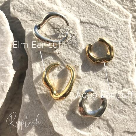 silver925 K18GP Aqua Ear Cuff