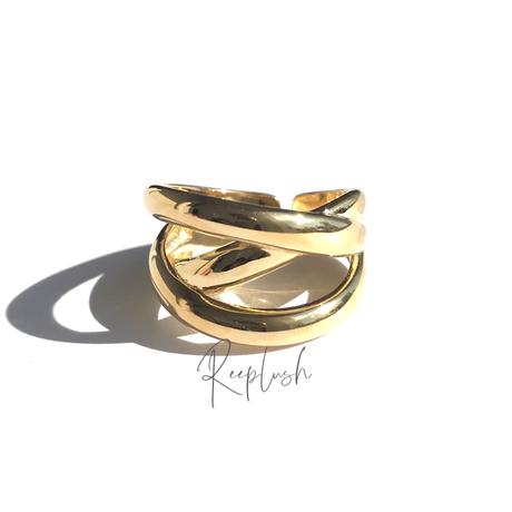 silver925 K18GP Vermeer Ring/size:#13-15