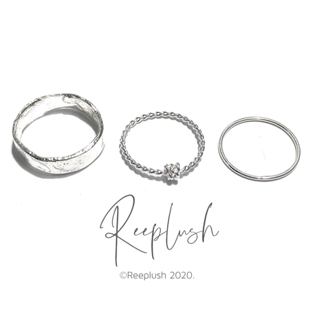 silver925 3SET Ring/size:#8-16
