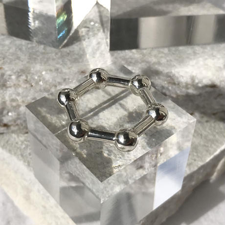 silver925 hexagon Ring/size:#12〈StyleNo.010724-45〉
