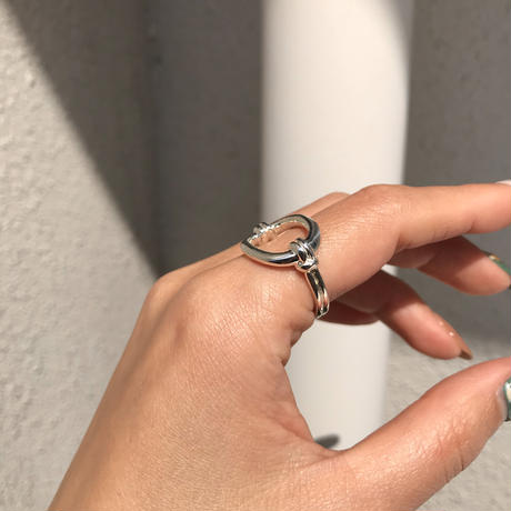 silver925 Hex Ring/size:M,L〈Style No.020319-28〉