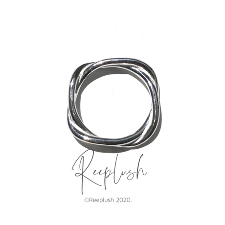 silver925 Screw Square Ring/size:#8-14