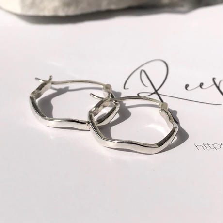 silver925 Mini wave Pierce<Style No.020203-103>