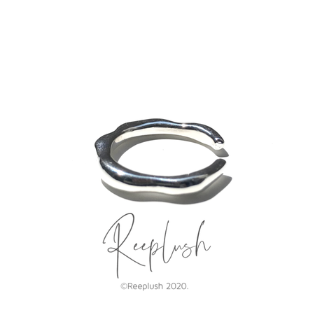 silver925 Drip Open Ring/size:#9-15