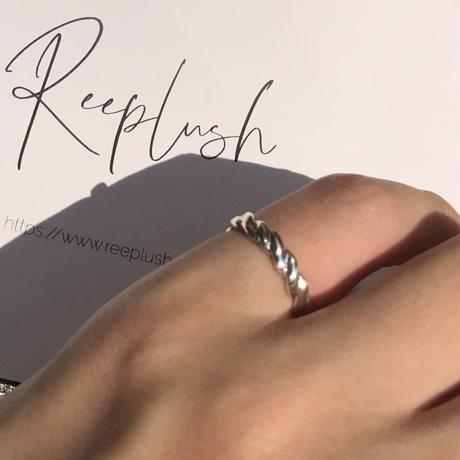 silver925 pinkyring -RopeSilver-〈StyleNo.010724-17〉size:#5
