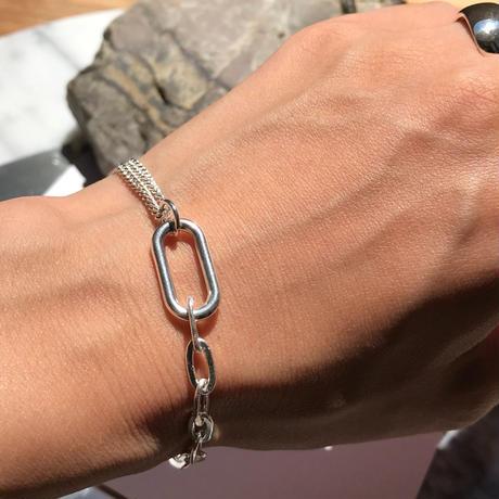 silver925 bracelet - Mix Chain Bracelet -〈StyleNo.010904-65〉
