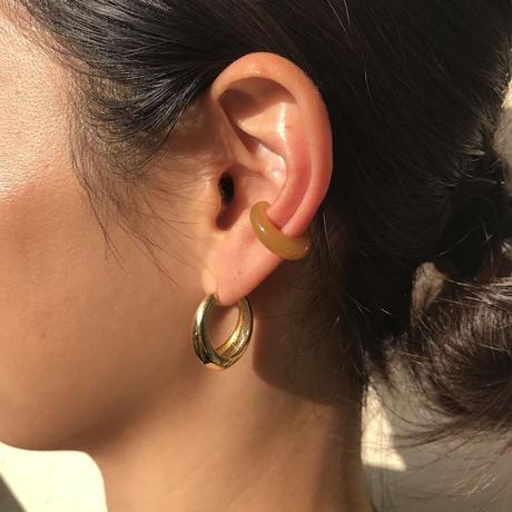 acrylic  Small size earcuff /yellow