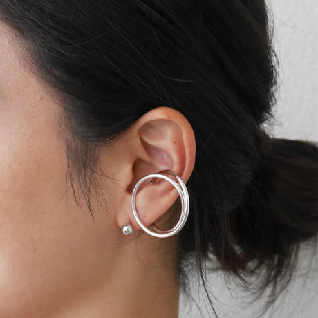 alloy/ iron Round earcuff&Ball pierce Set〈StyleNo.010724-9〉