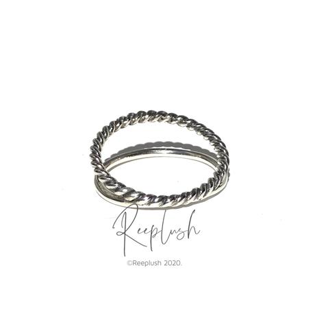 【15号ラスト1点】silver925 Thin Layered Ring /size:#15