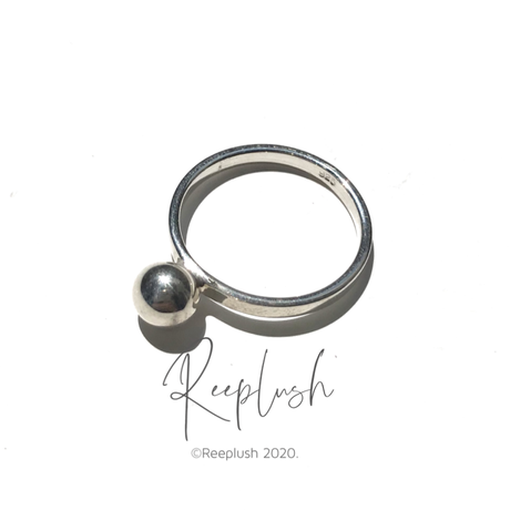 silver925 Mini One Grain Ring/size:S,M〈Style.No.020813-42〉