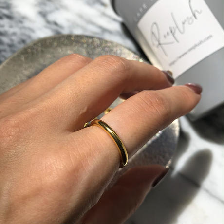 silver925 K18GP ring -Bold Layered Ring- <Style No.010904-3>  #13