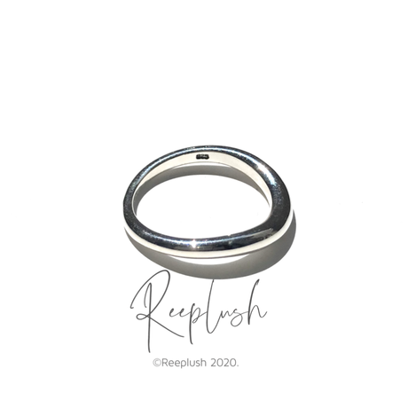 silver925 Thin Curved Ring/size:#9-17