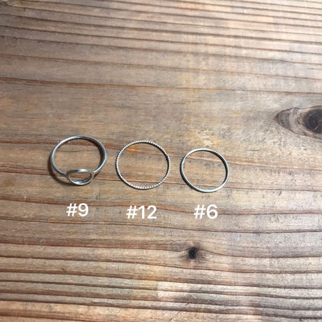 silver925 ring 3peace set