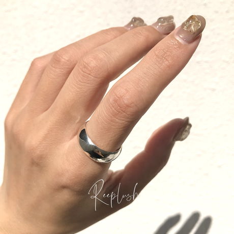 silver925 8mm Bold Ring