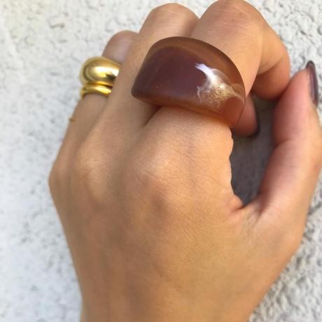 Acryl Matt Processing ring brown <Style No.010904-99> brown