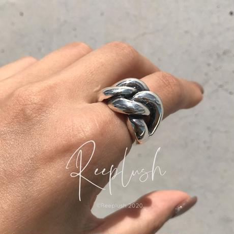【unisex】silver925 Fat Chain Ring /size:M,L〈Style.No.020813-36〉