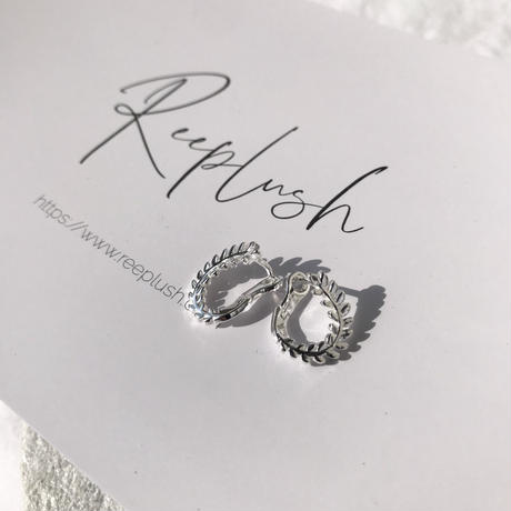 silver925 Weeping leaves Pierce<Style No.020203-10>