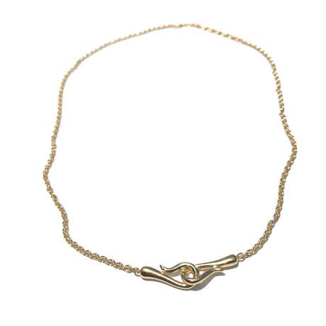 silver925 K18GP Hook Choker/36cm