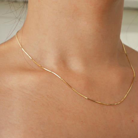 silver925 K18GP  -Snake Chain Necklace-〈StyleNo.010904-27-re〉Gold