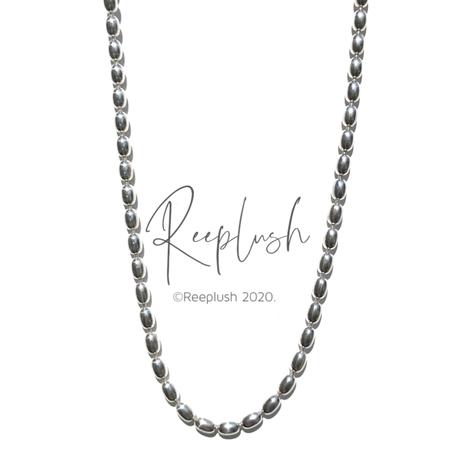 silver925  -Ricechain Choker-/size:34cm