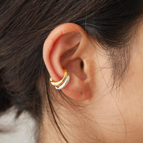 silver925 K18GP  -C Earcuff-〈StyleNo.010904-45-re〉gold/1peace