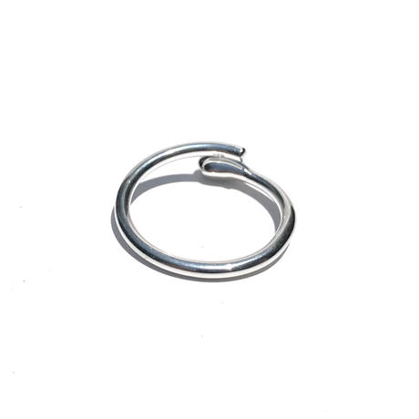silver925 Thin Swirl Ring/size:#17-13